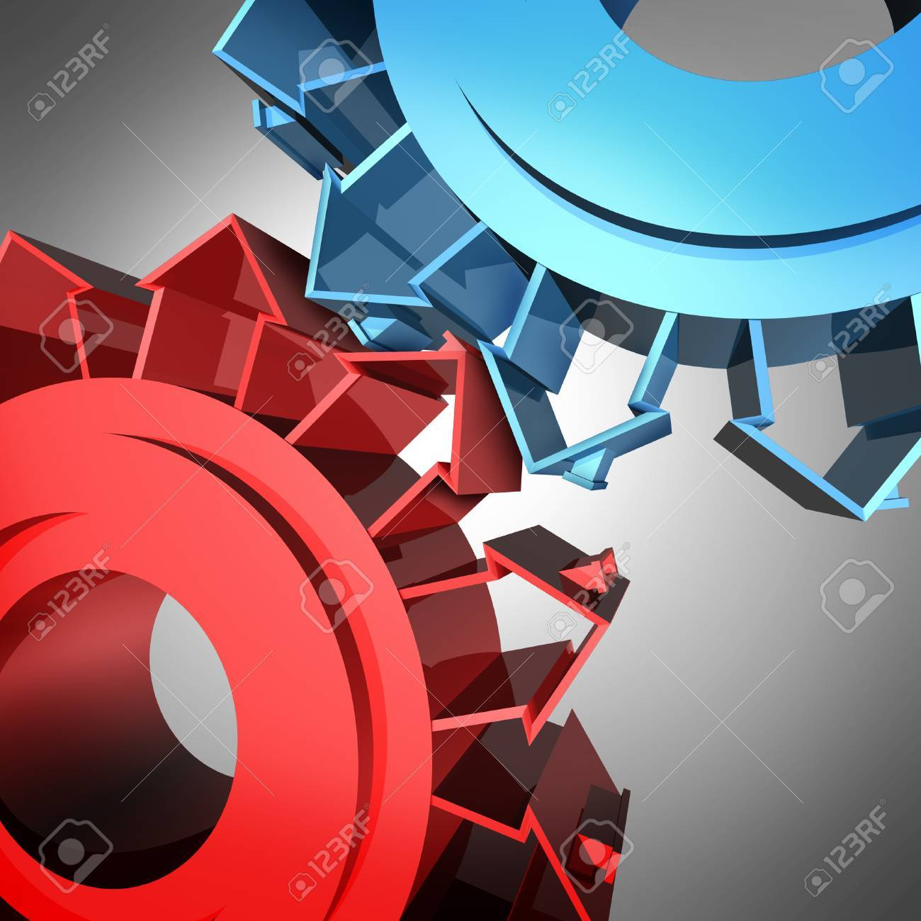 Housing industry and home construction real estate concept as two gears or cog wheels shaped as family residential structures as an icon of neighborhood cooperation and community network connections Stock Photo - 22666985