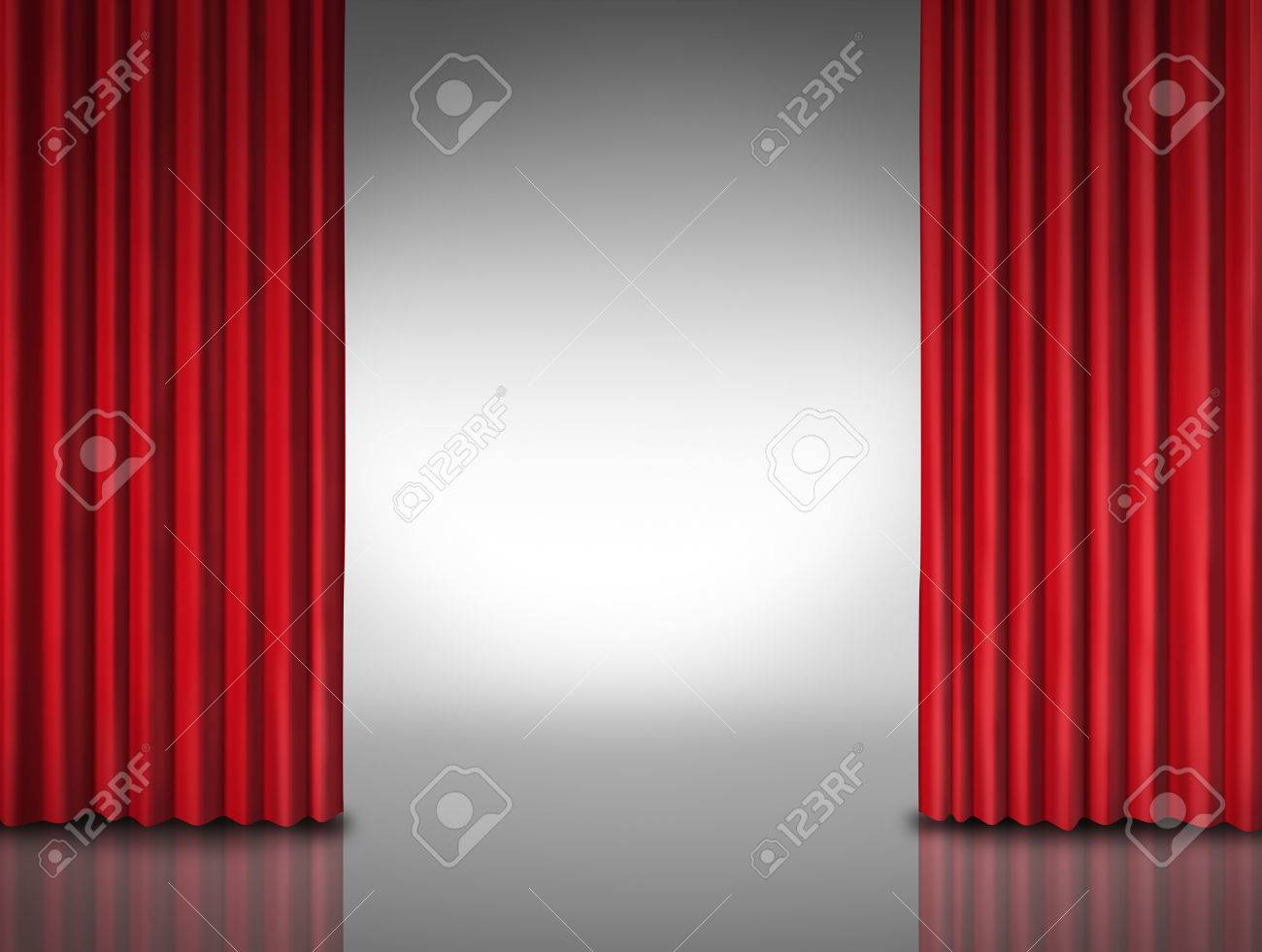 Entertainment background for movie performances at a glossy theater stage Stock Photo - 23181112