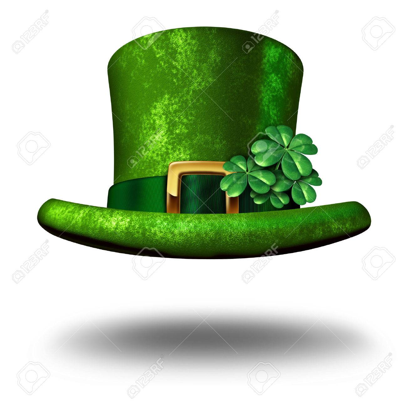 Green shamrock lucky top hat as a st patricks day symbol and stock green shamrock lucky top hat as a st patricks day symbol and luck icon of irish biocorpaavc Gallery