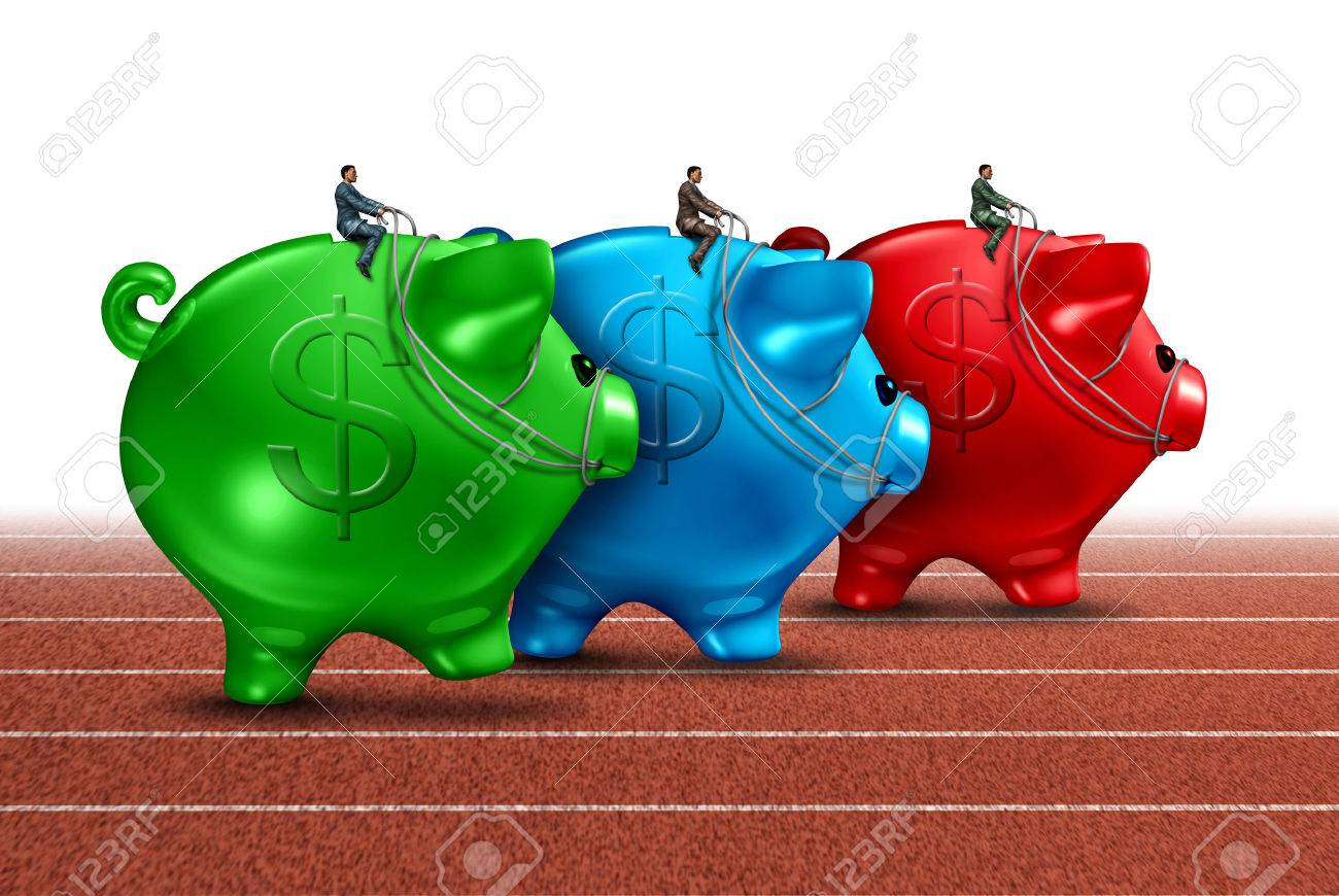 Money Race Business Concept As A Best Of Breed Metaphor With Stock Photo Picture And Royalty Free Image Image 25388565