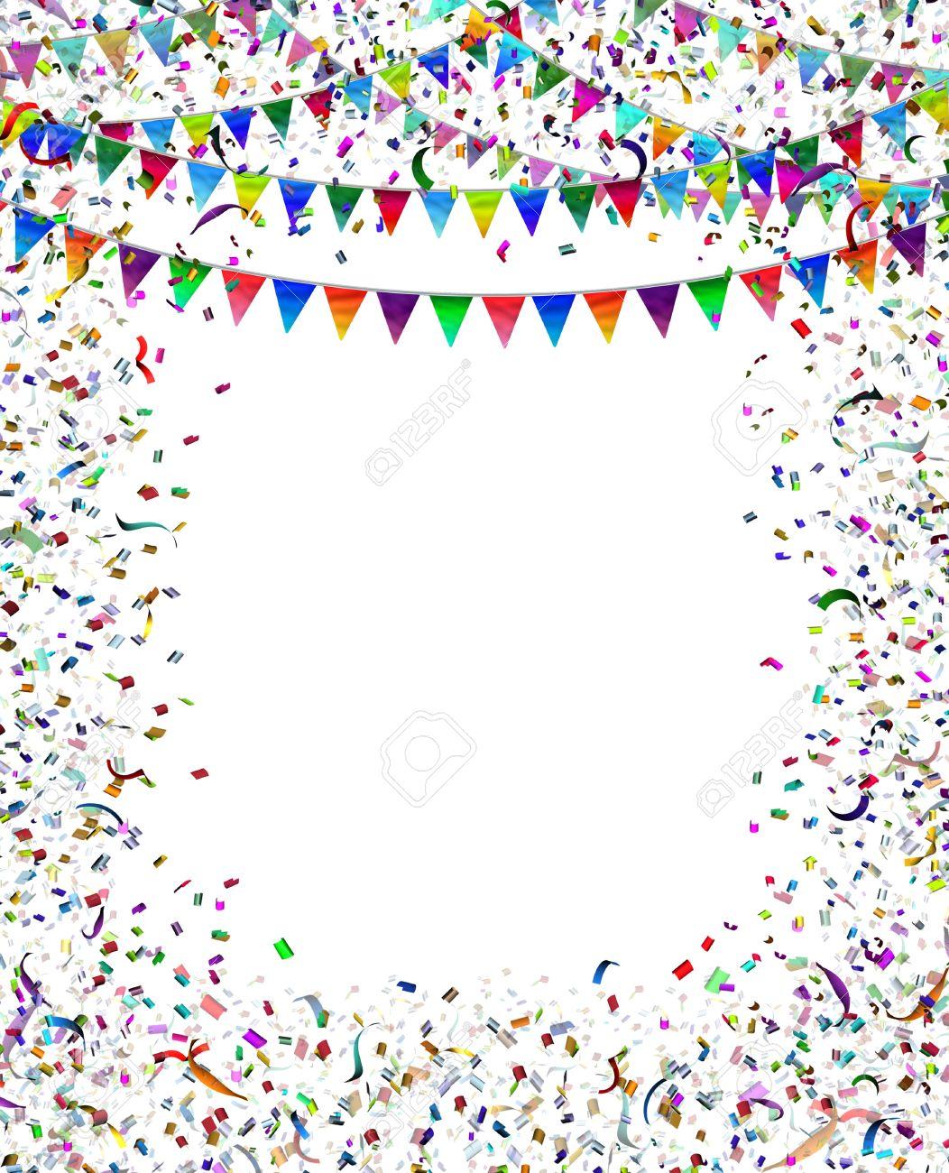 Bunting Flags Konfetti-Rahmen Als Feier-und Party Umrahmt Dekoration ...
