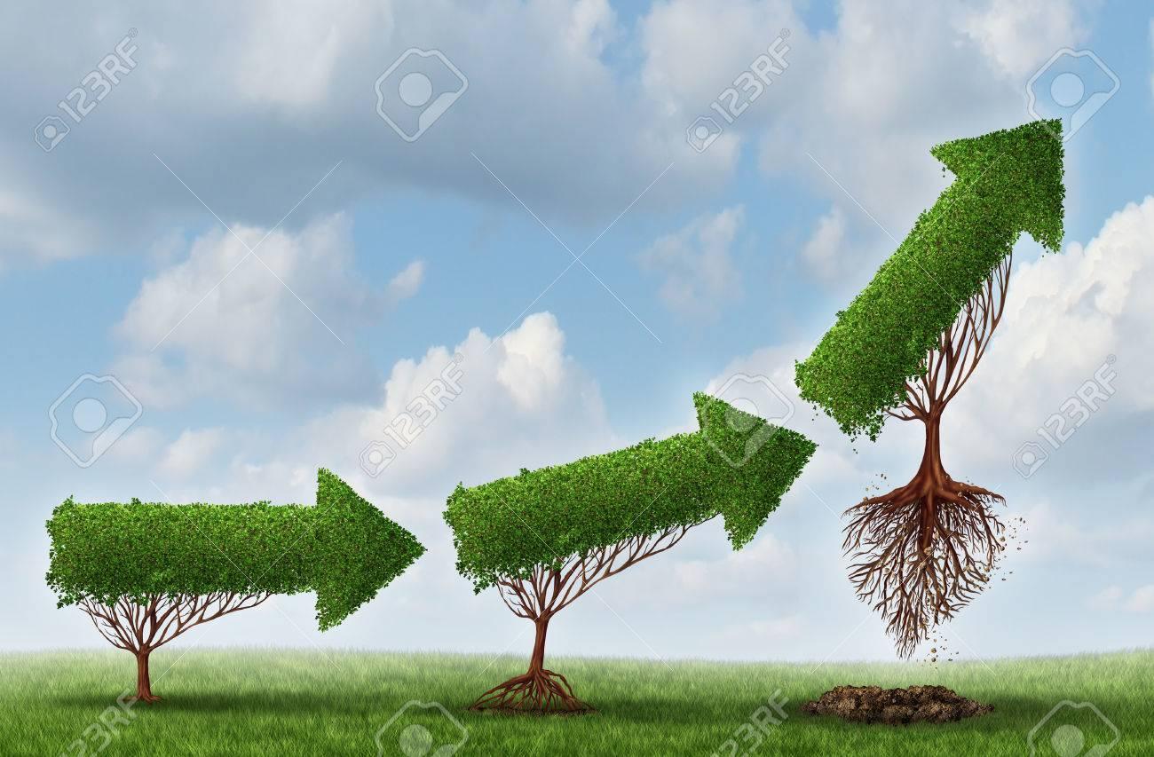 Lanzamiento Éxito De Símbolo Como Un Grupo De árboles En Forma De ...
