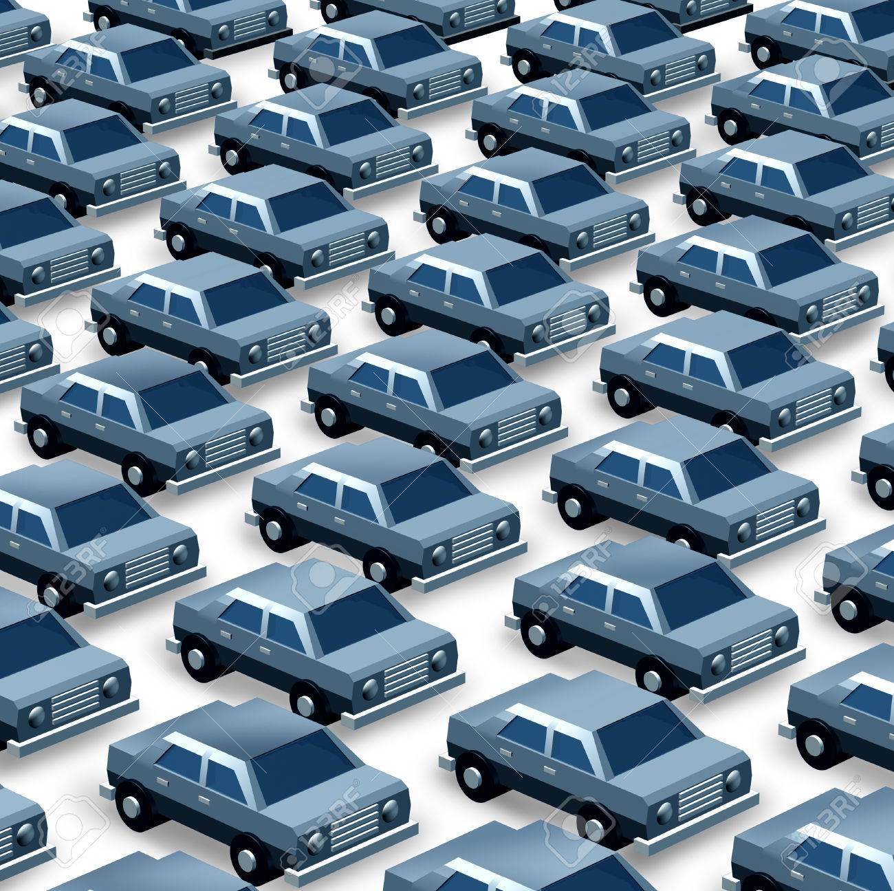 Car dealership concept as a group of generic three dimensional car dealership concept as a group of generic three dimensional cars organized as a pattern in buycottarizona