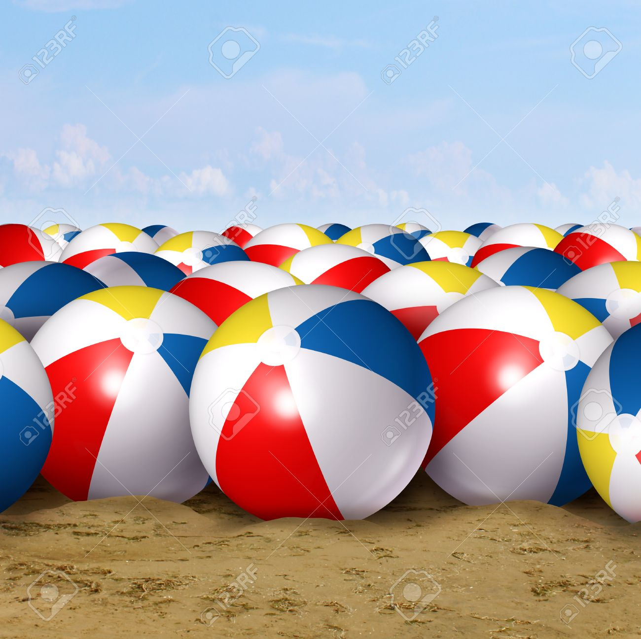Beach Ball In Ocean