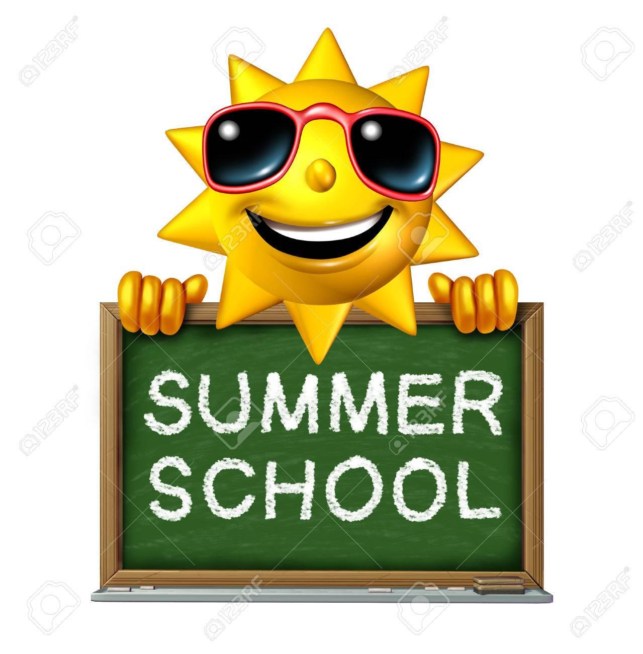Summer School Education Concept As A Happy Fun Three Dimensional