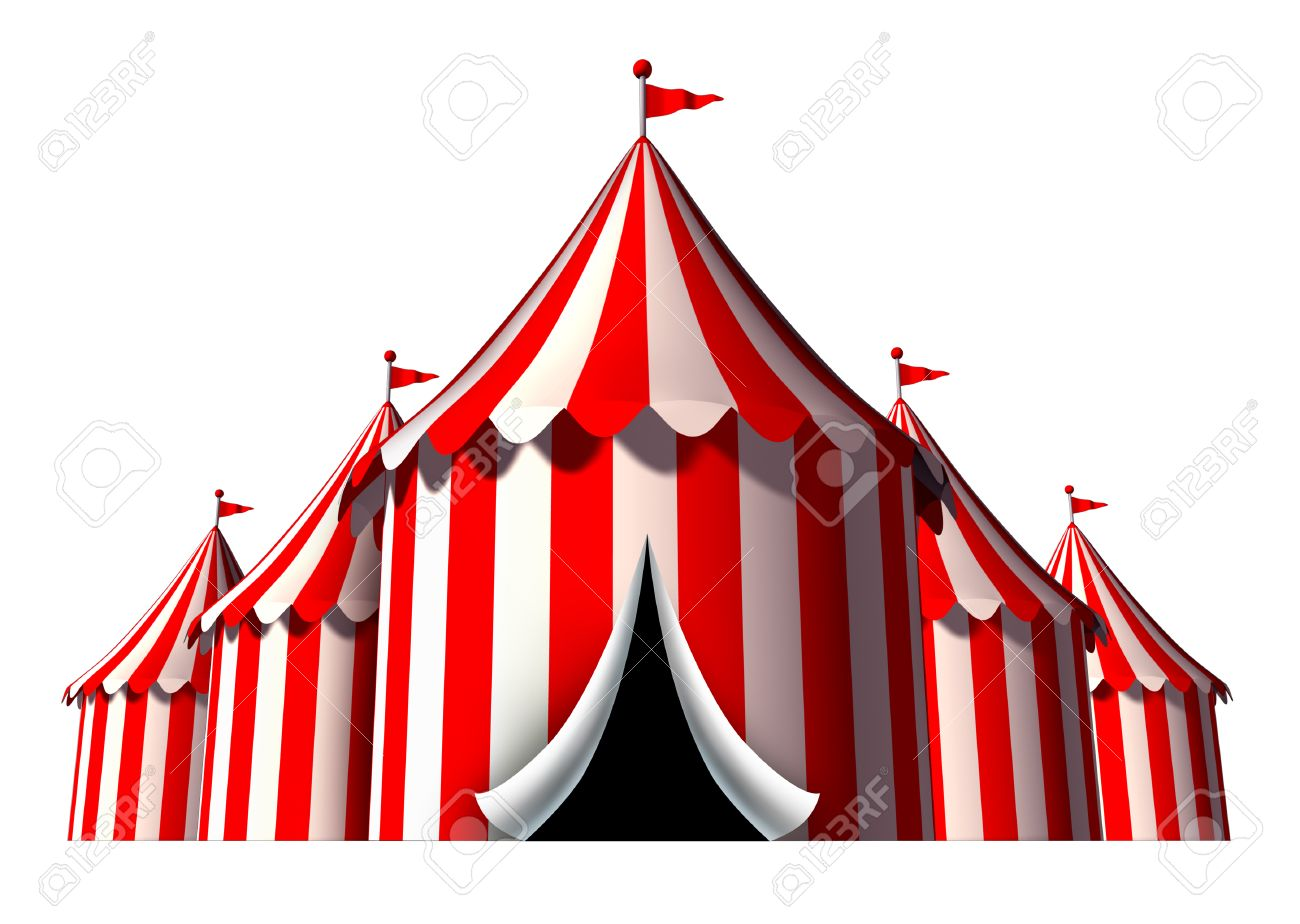 Circus tent design element as a group of big top carnival tents with an opening entrance  sc 1 st  123RF Stock Photos & Circus Tent Design Element As A Group Of Big Top Carnival Tents ...