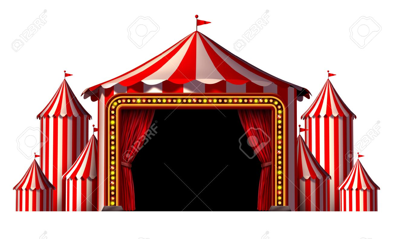 Circus stage tent design element as a group of big top carnival tents with a red  sc 1 st  123RF.com & Circus Stage Tent Design Element As A Group Of Big Top Carnival ...