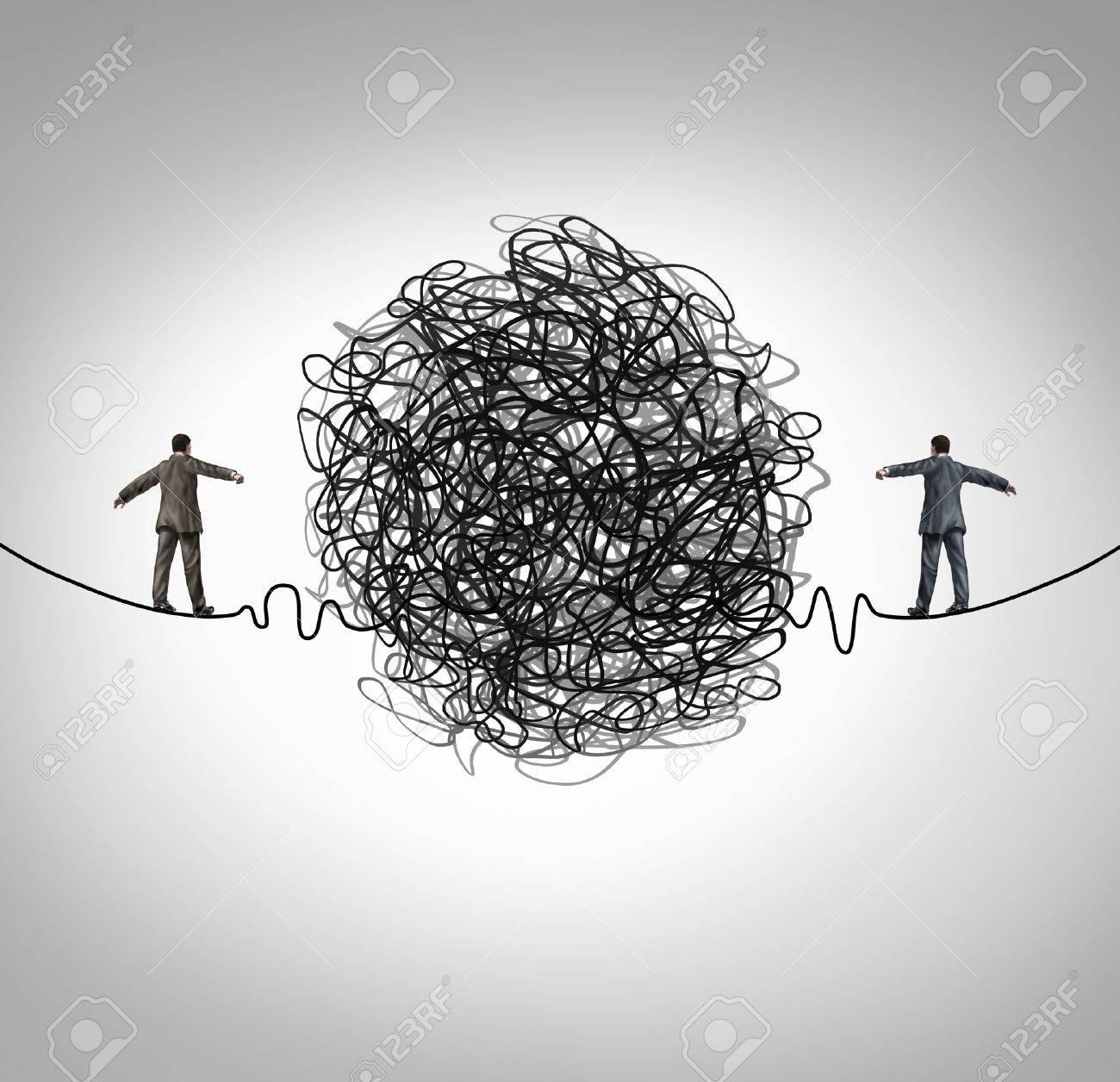Partnerschaft Problem Und Geschäfts Konfrontation Konzept Als Zwei ...