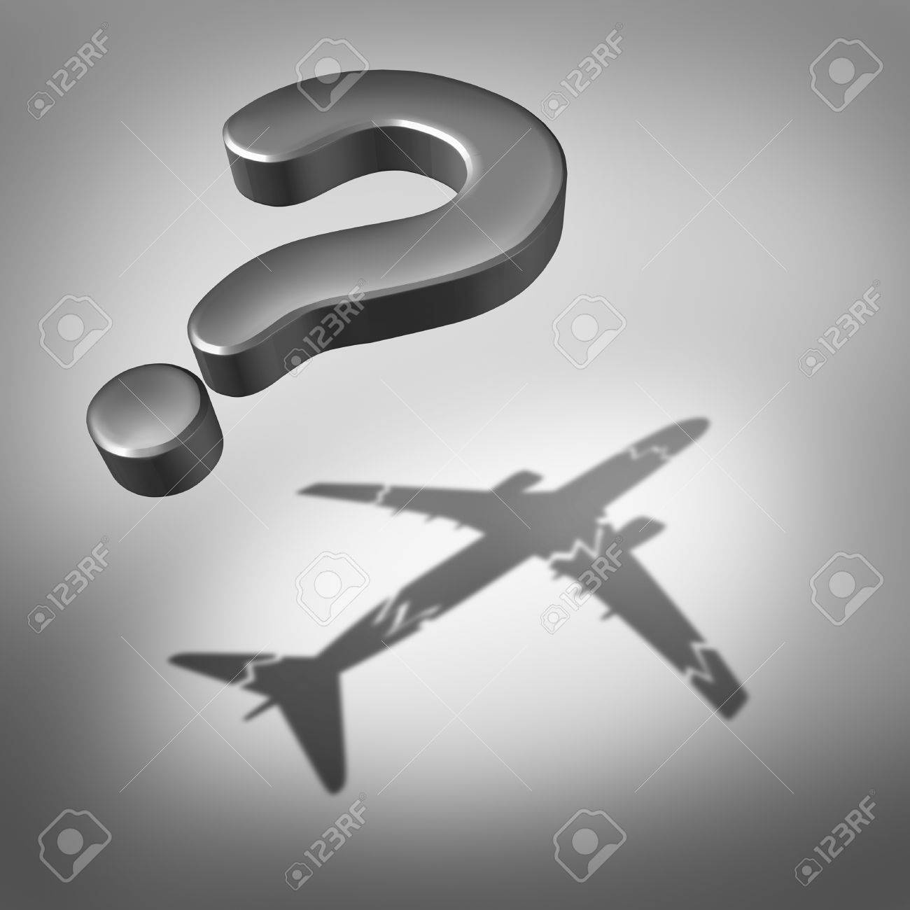 Aviation Disaster Question And Air Safety Concept As A Flying Three Dimensional Mark With