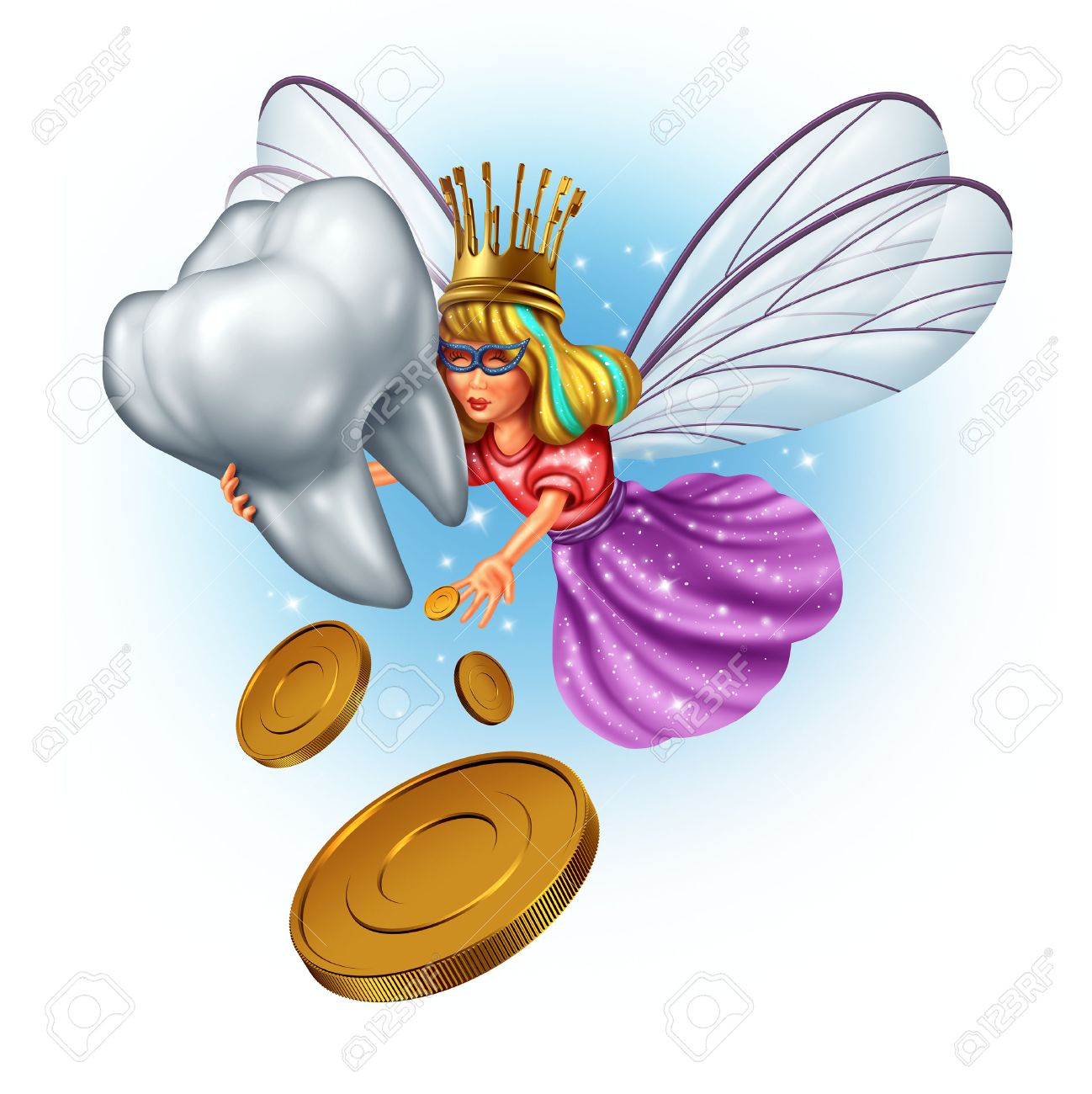 Tooth Fairy Character As A Mythical And Magical Princess Wearing ...