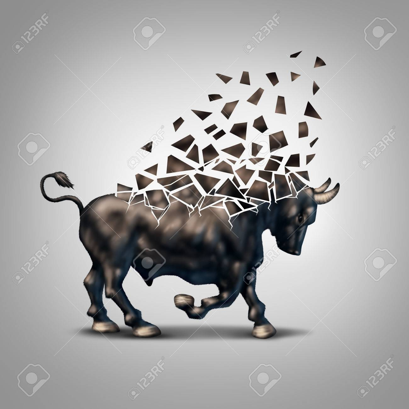 Fragile bull market financial crisis concept as an economic symbol fragile bull market financial crisis concept as an economic symbol for a crumbling positive forecast and buycottarizona