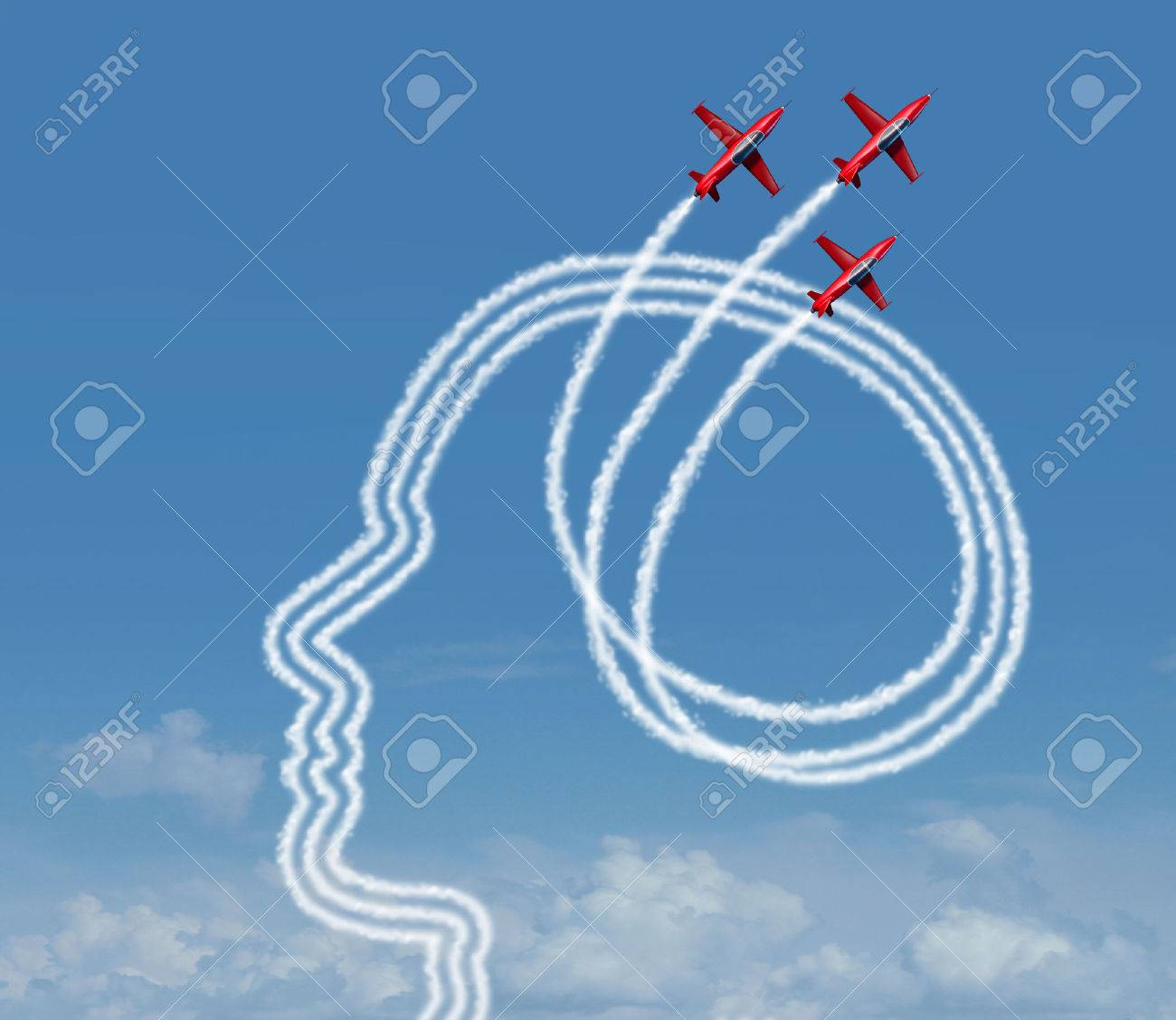 personal achievement and career aspiration concept as a group personal achievement and career aspiration concept as a group of acrobatic jet airplanes performing an air