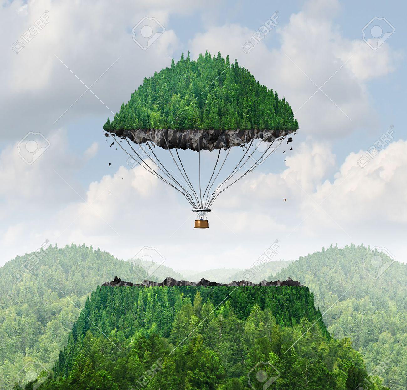 Concepto Imaginación Como Una Persona De Despegar Con Una Tapa ...