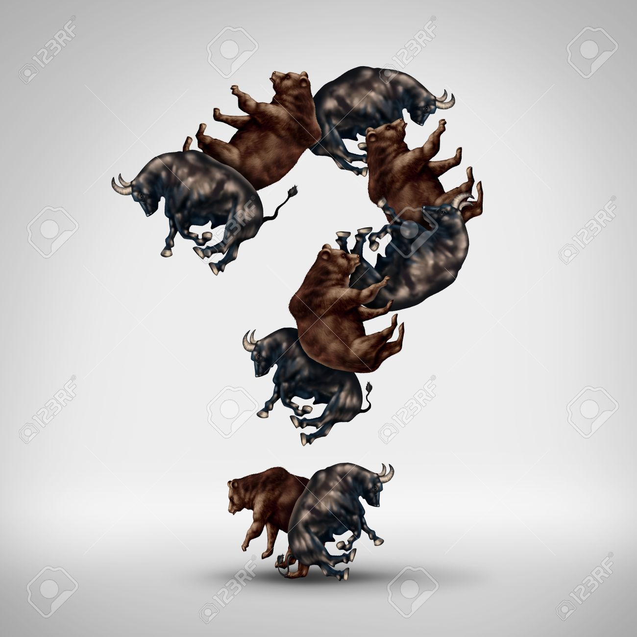 Bulls and bears questions with a stock market bull and bear shaped bulls and bears questions with a stock market bull and bear shaped as a question mark buycottarizona