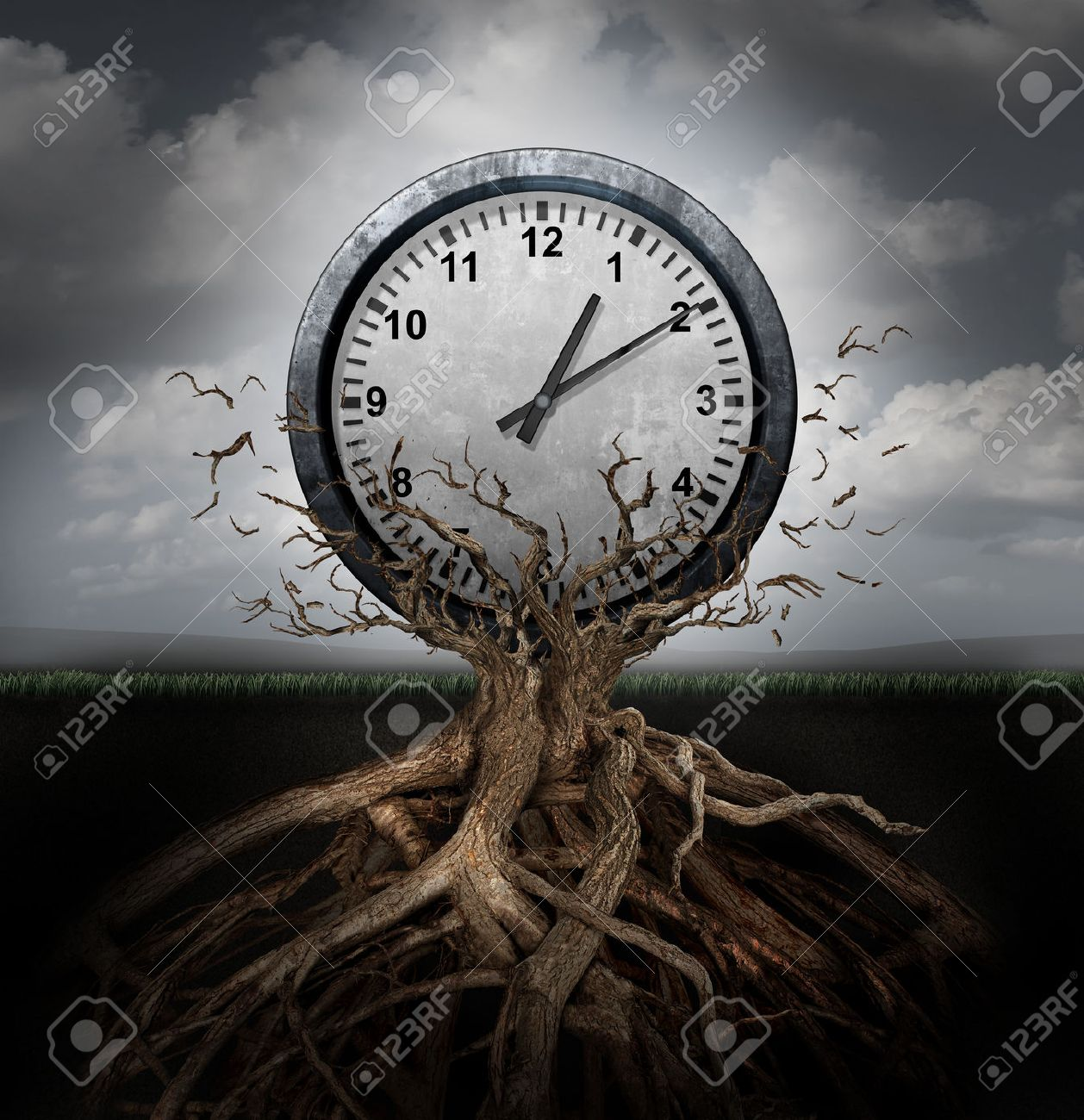 Time Planning And Efficiency Management Business Concept As A Clock