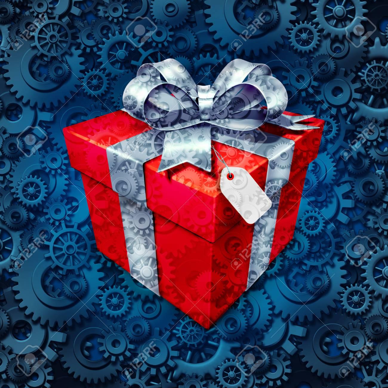 Geschenk-Business-Konzept Und Corporate Weihnachten Oder Urlaub ...