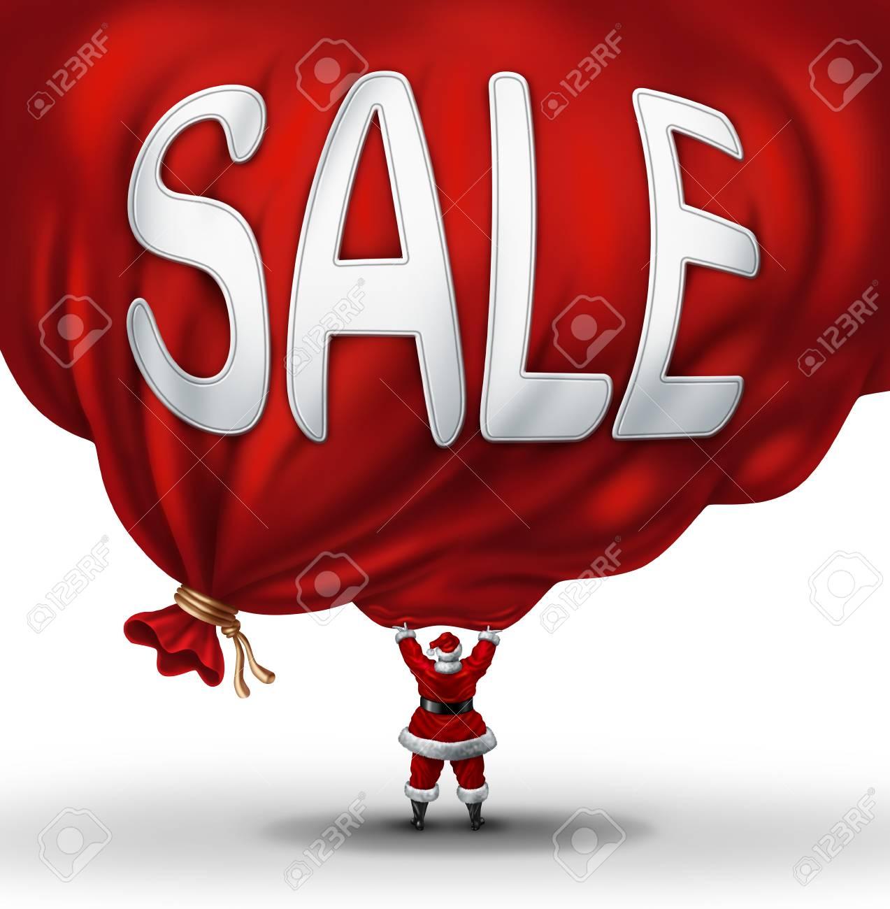 Big Christmas Sale-Symbol Und Urlaubsrabatte Symbol Als Santaclause ...