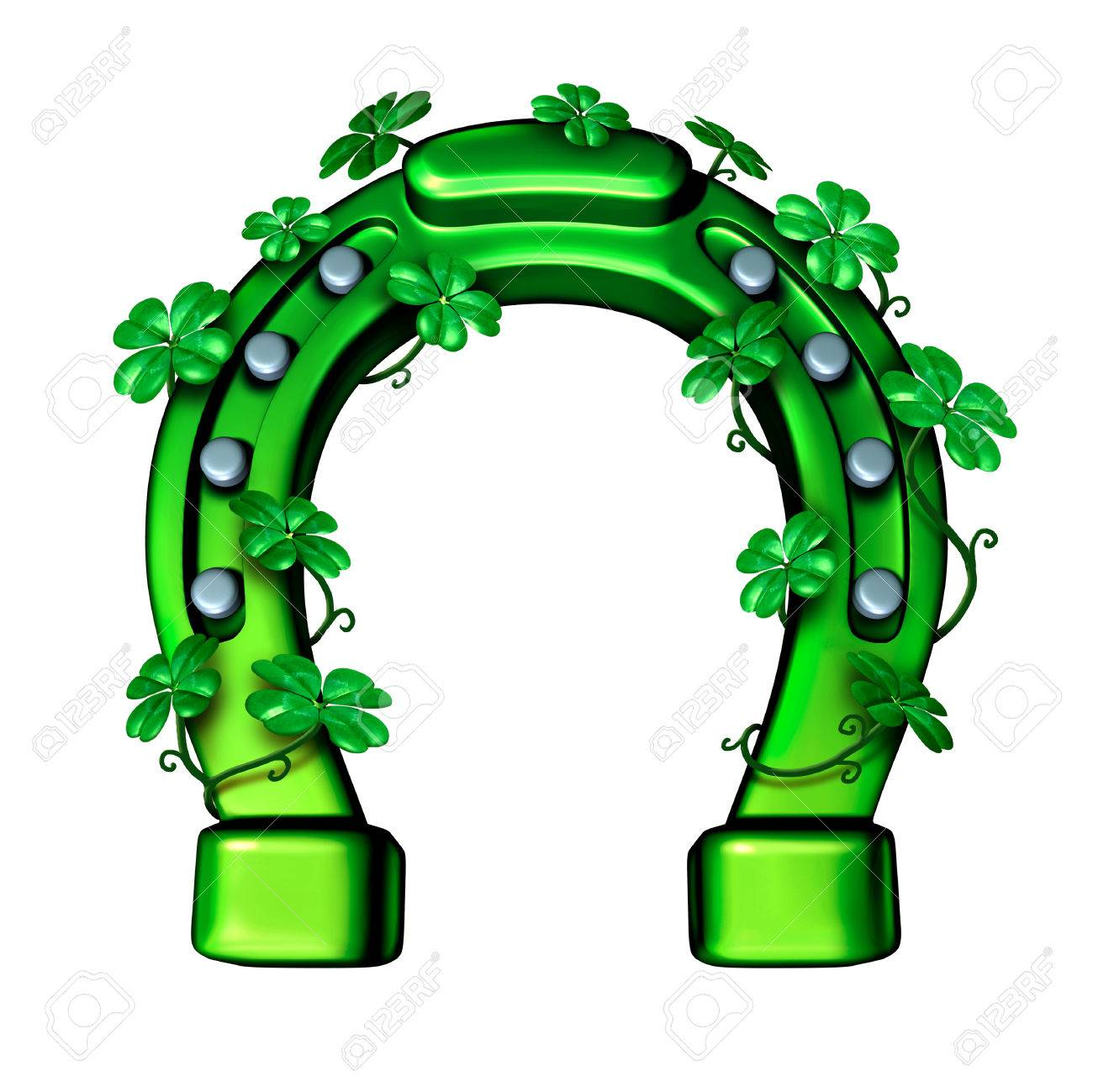 Green horseshoe as a lucky fortune symbol for saint patricks stock green horseshoe as a lucky fortune symbol for saint patricks day or luck of the irish buycottarizona Gallery
