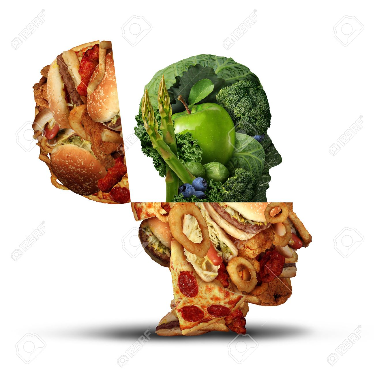 Nutrition Change Healthy Lifestyle Concept Changing Bad Eating ...
