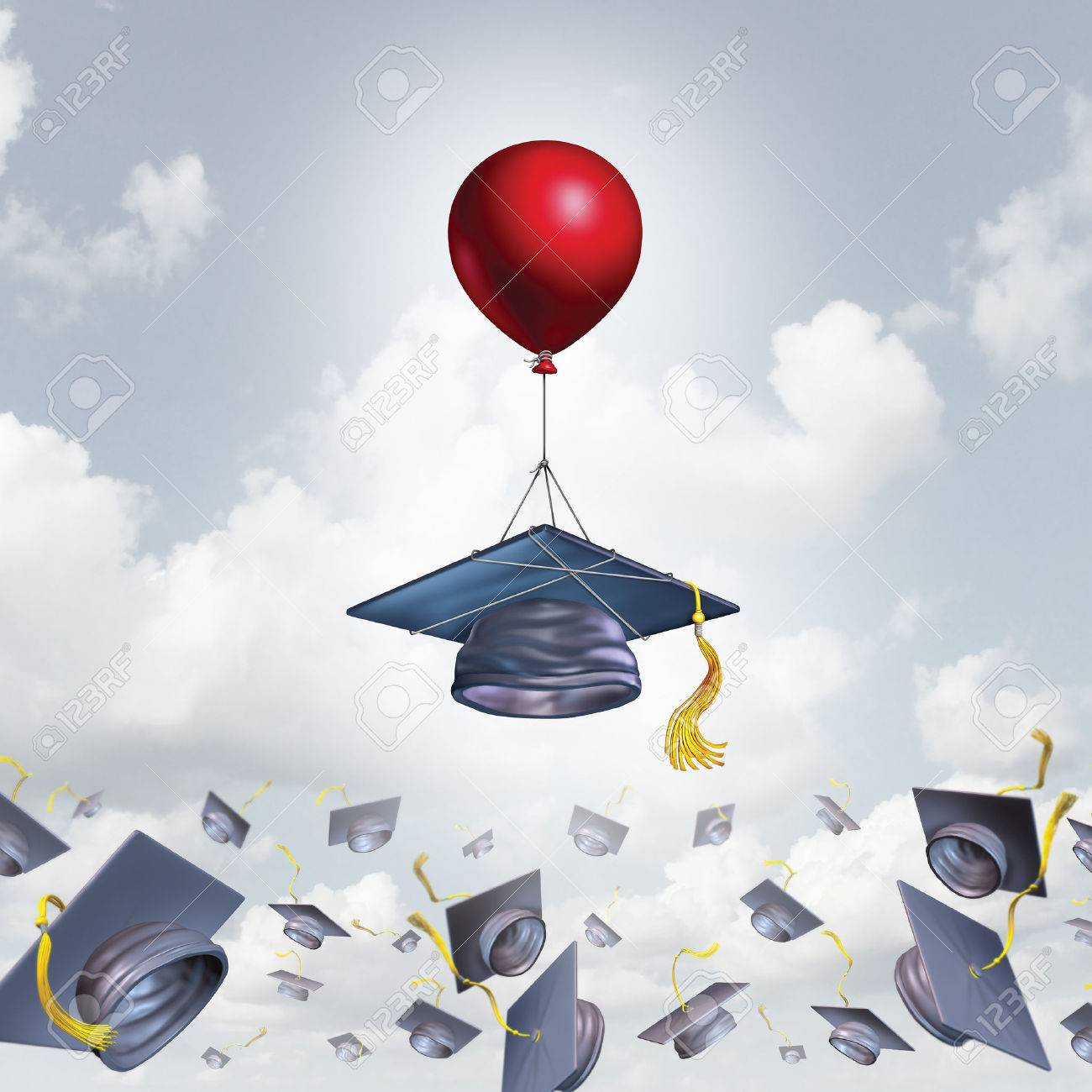 School support and college graduation concept and scholarship school support and college graduation concept and scholarship symbol as a mortarboard or graduate cap being biocorpaavc
