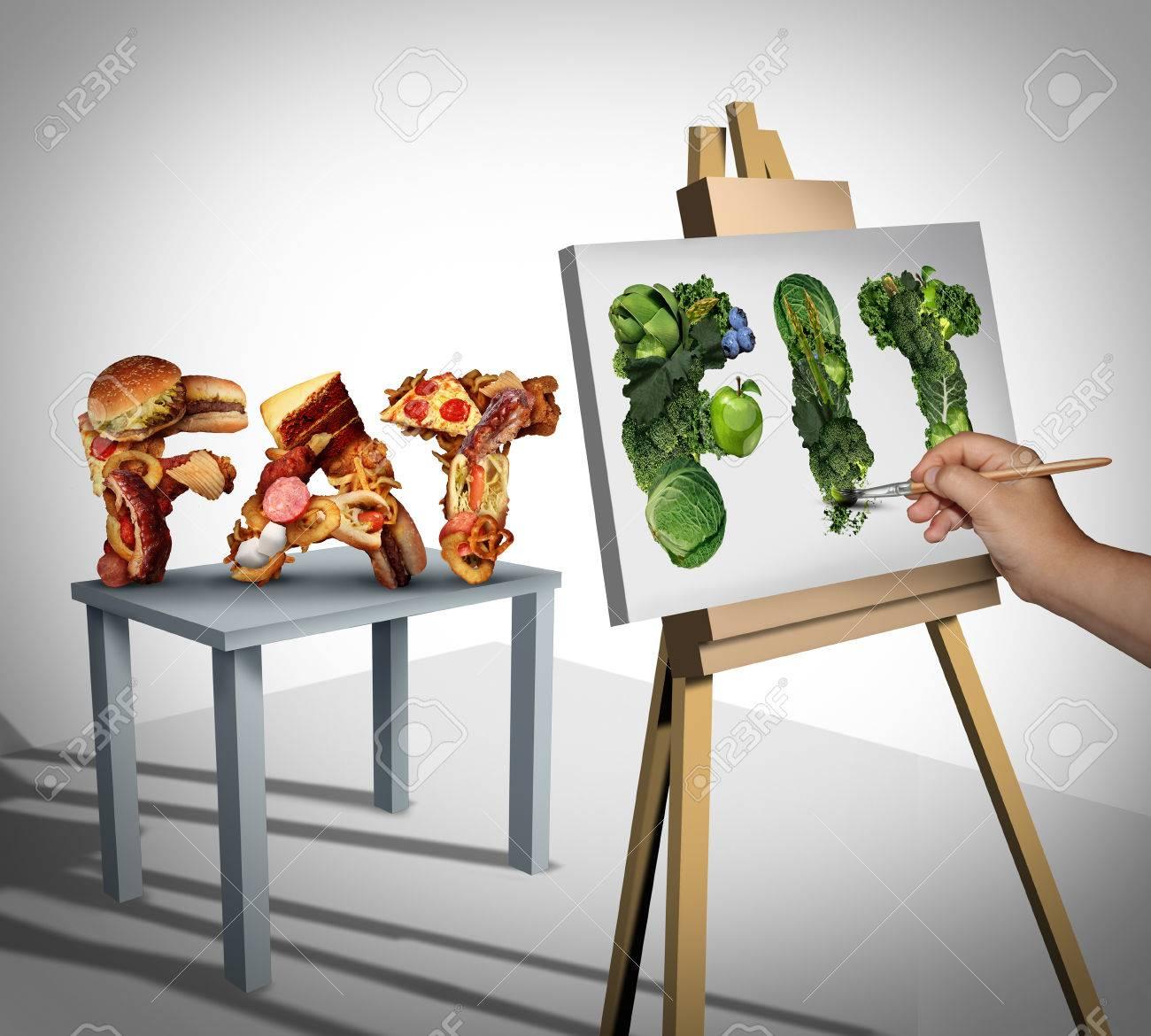 Abnehmen Fokus Und Wechselnden Ernährung Lebensstil Ziele Als Person ...