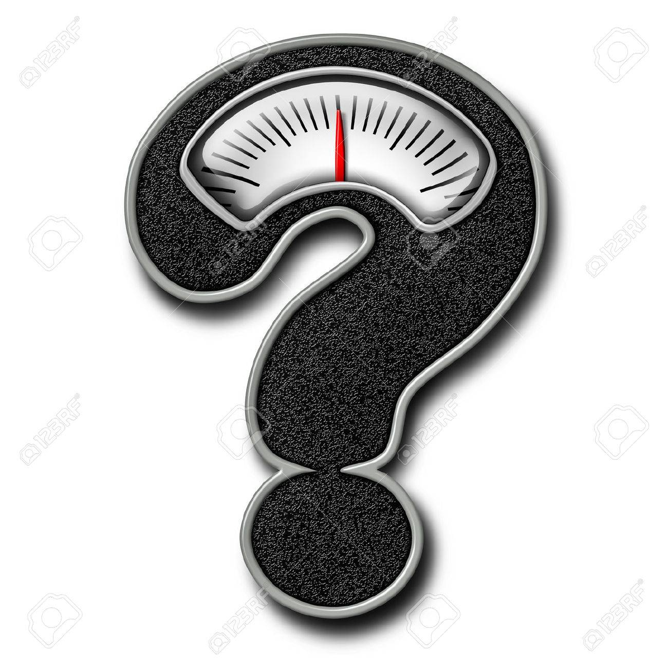 Dieting Advice Symbol As A Bathroom Weight Scale Shaped Question Mark Representing Diet Confusion