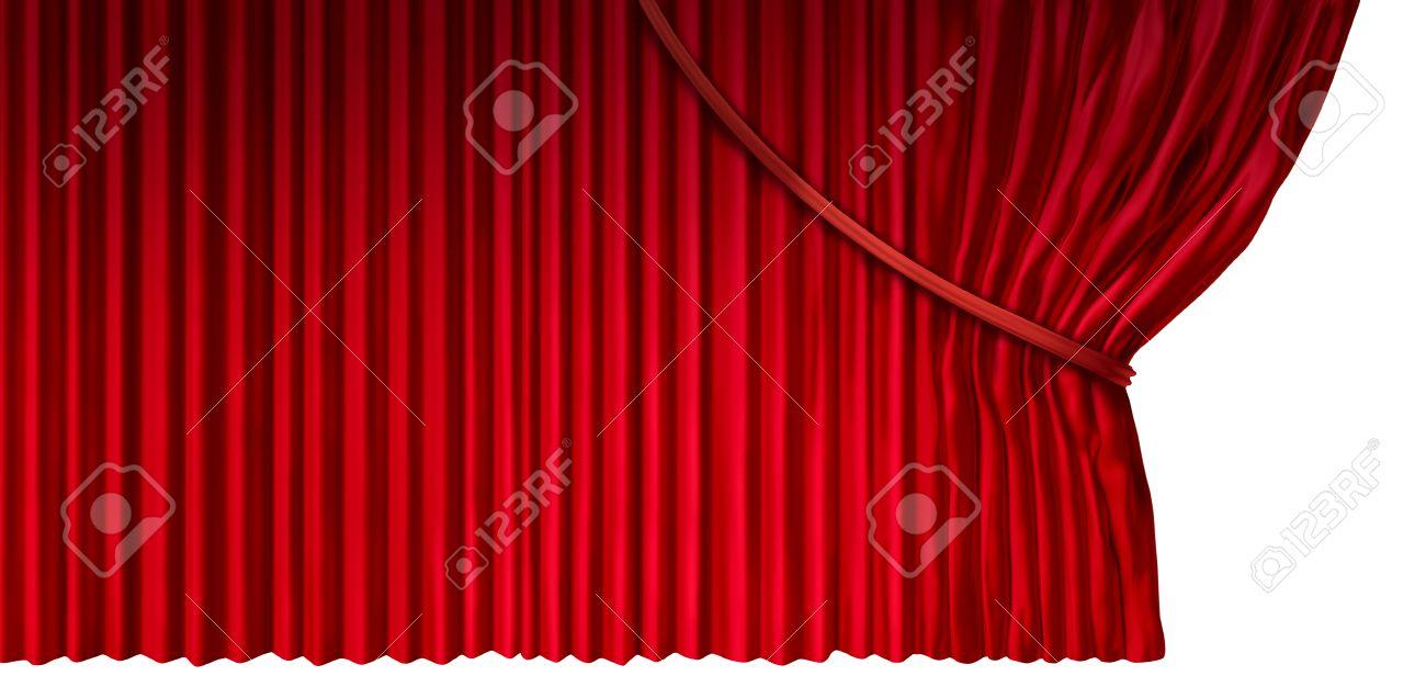 Rideau Révèle Que Le Cinéma Ou De Théâtre Rideaux Avec Du Matériel