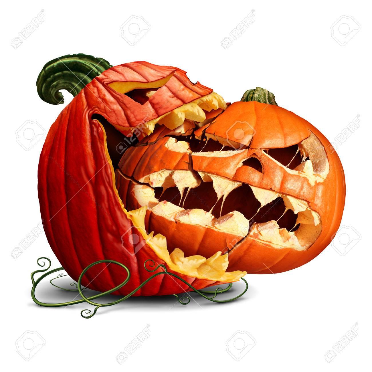 Kurbis Essen Symbol Als Eine Dominante Halloween Kurbis Einen Bissen