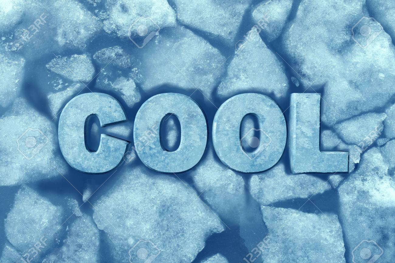 Cool Ice Symbol As Text In Frosty Glacial Frozen Water As A ...