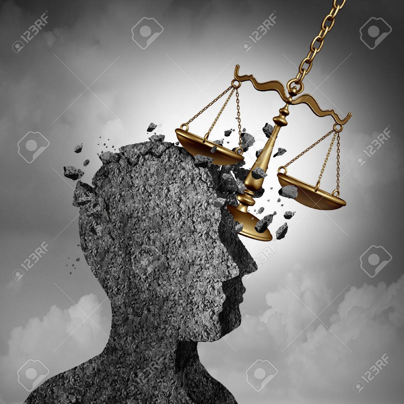 Litigation And Lawsuit Stress Concept As A Lawyer Or Attorney