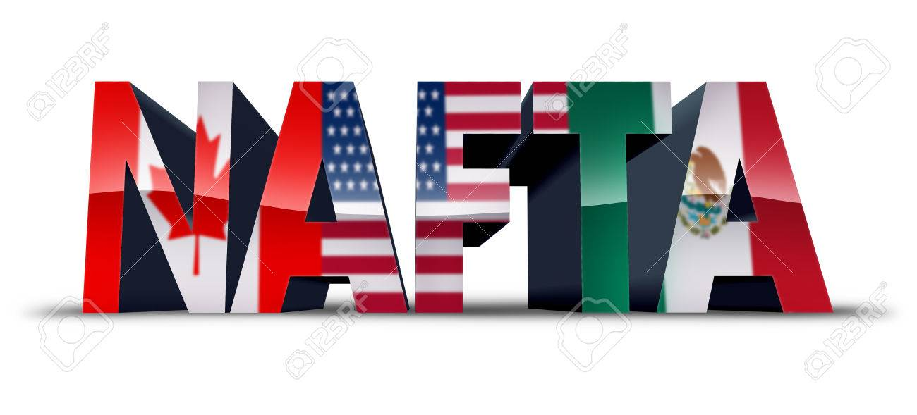 Nafta Or The North American Free Trade Agreement Symbol As The