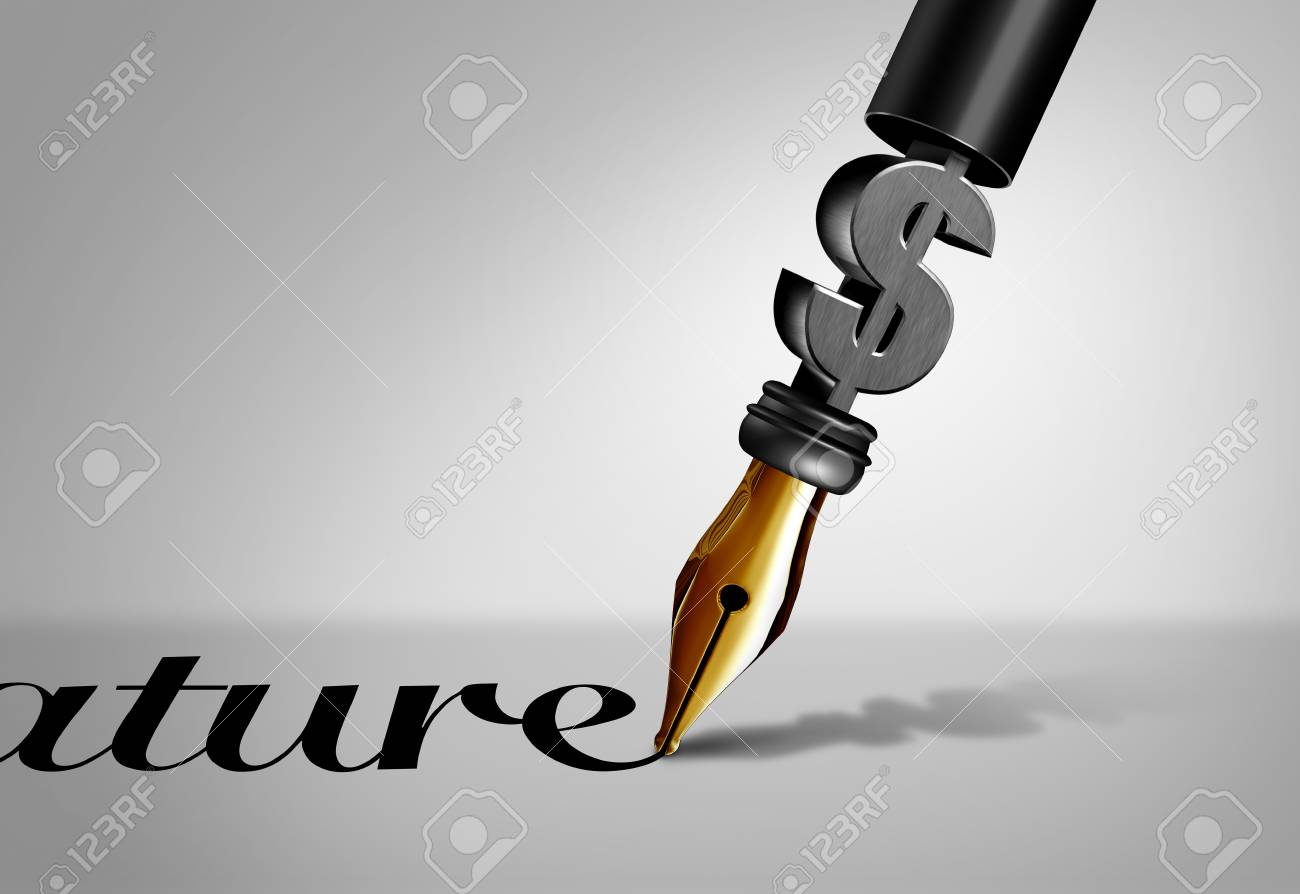 Geschäftsvertrag Unterzeichnung Vereinbarung Als Stift Stift