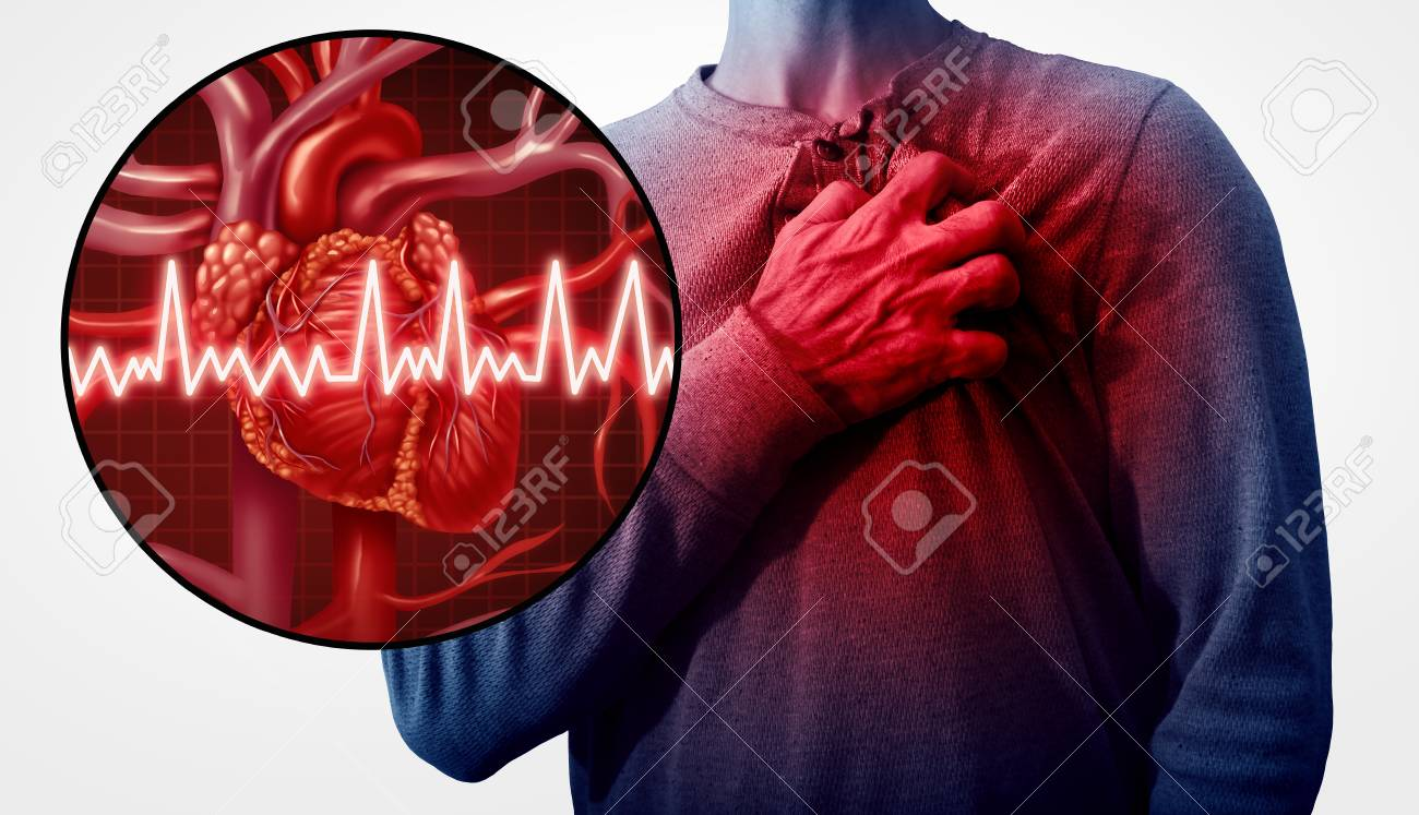 Human Heart Attack Pain As An Anatomy Medical Disease Concept