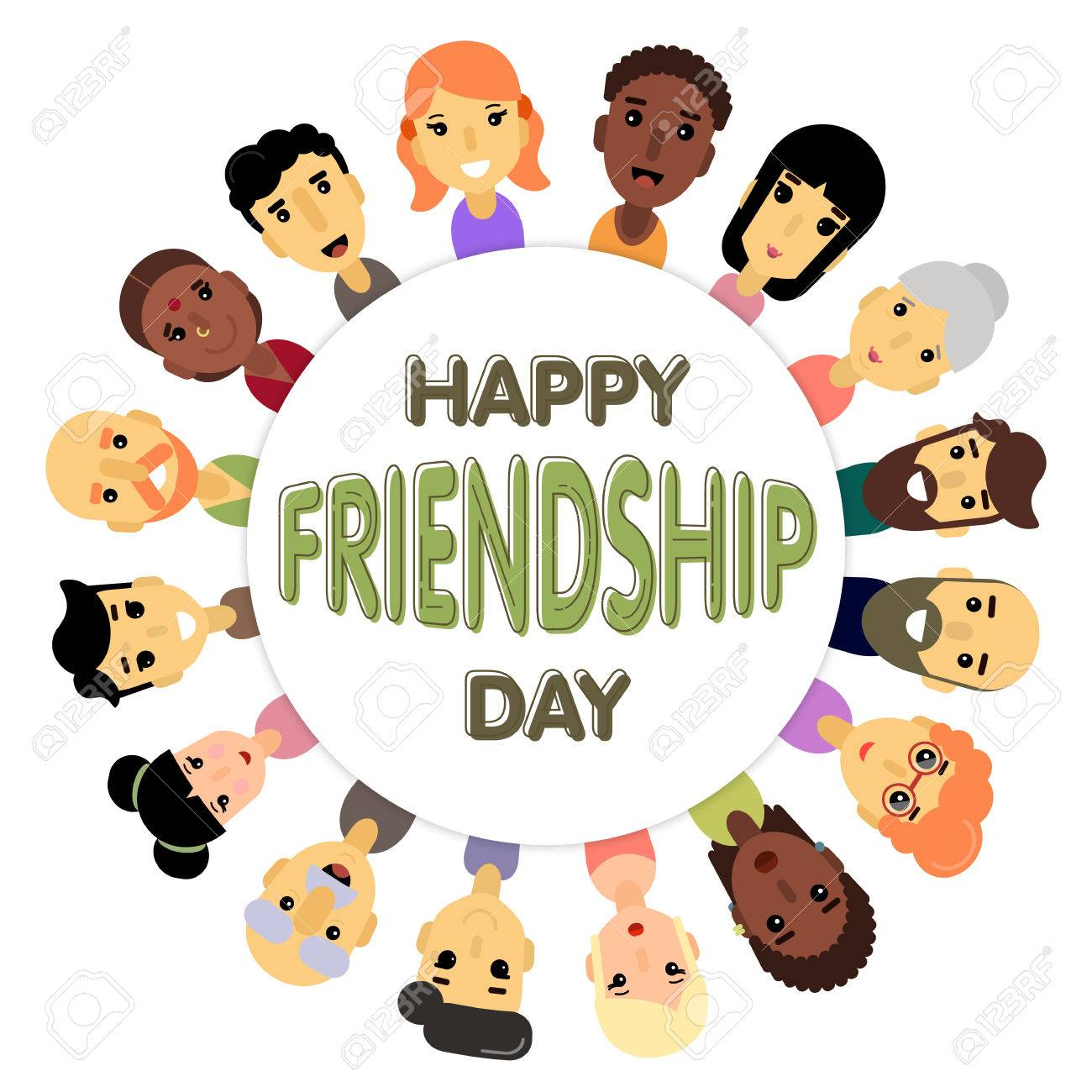 The circle of friends of different genders and nationalities the circle of friends of different genders and nationalities as a symbol of international friendship day buycottarizona Choice Image