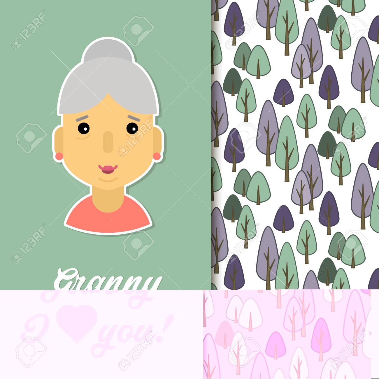Happy Day Grandparents Card For Your Greetings Stock Vector