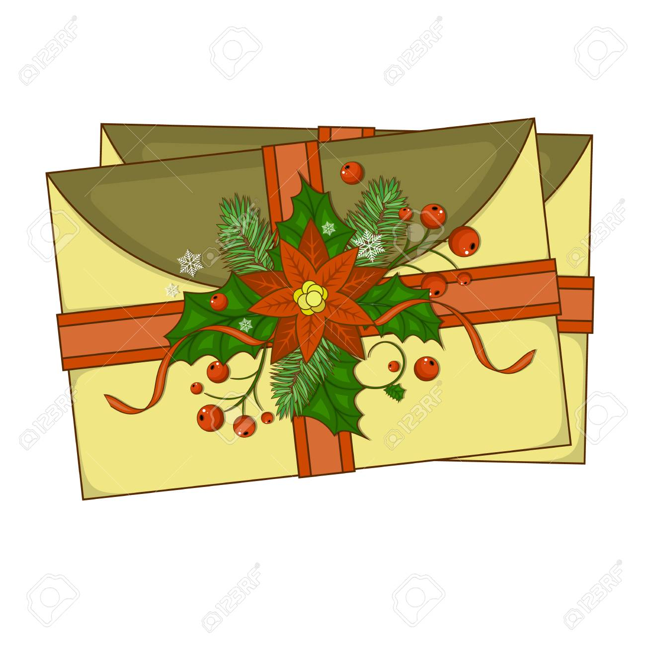 Vintage Christmas Greeting Cards Royalty Free Cliparts, Vectors, And ...