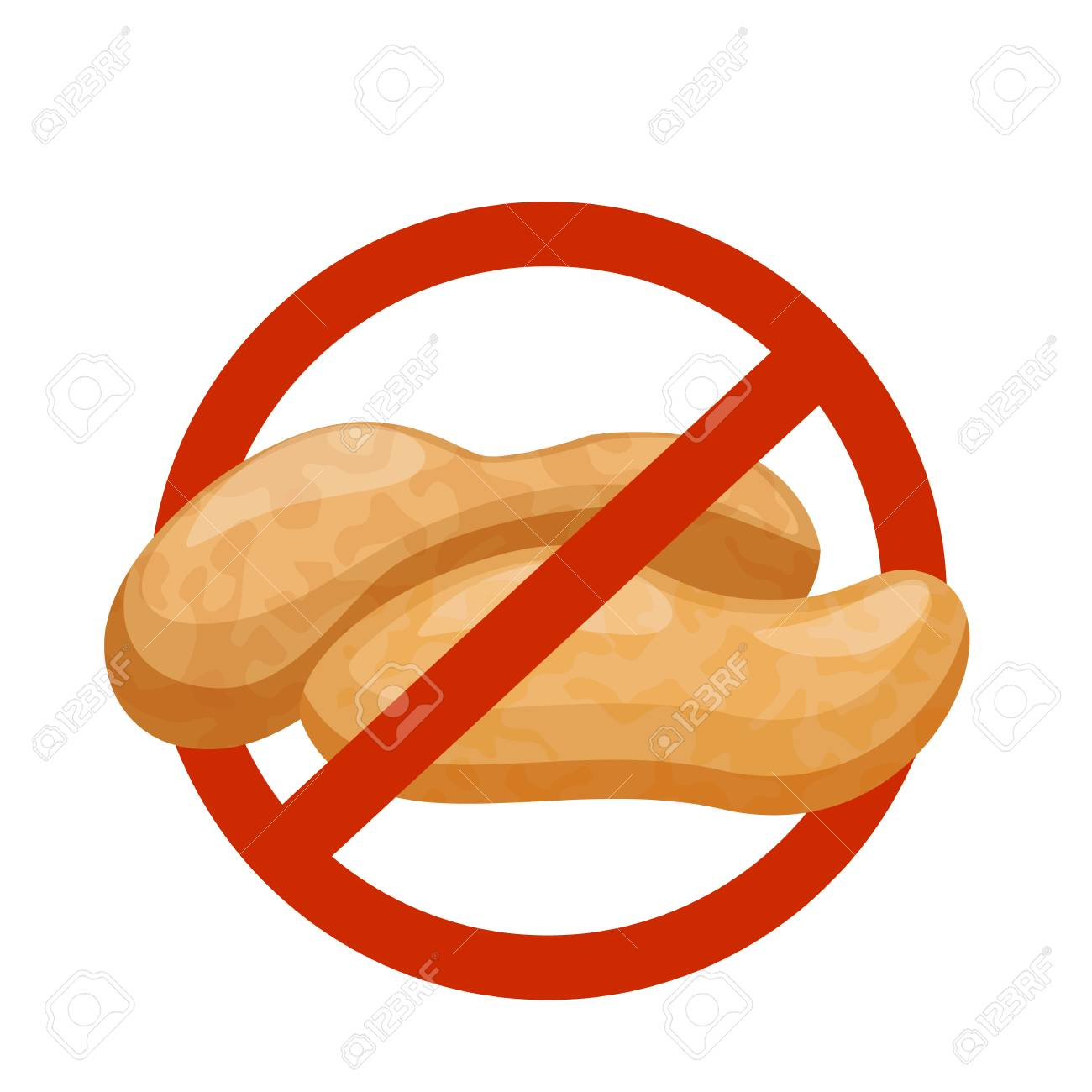 Contains No Nuts - Peanut Warning Royalty Free Cliparts, Vectors, And Stock  Illustration. Image 111754640.