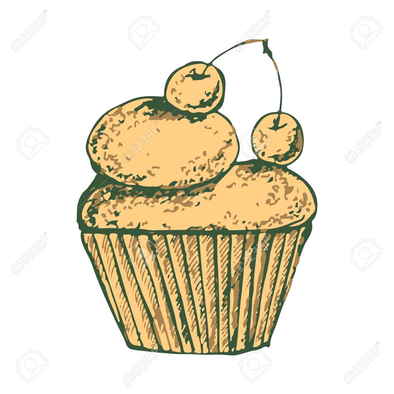 Skizzieren Sie Einen Leckeren Kuchen Susses Clipart Mit Kostlichen
