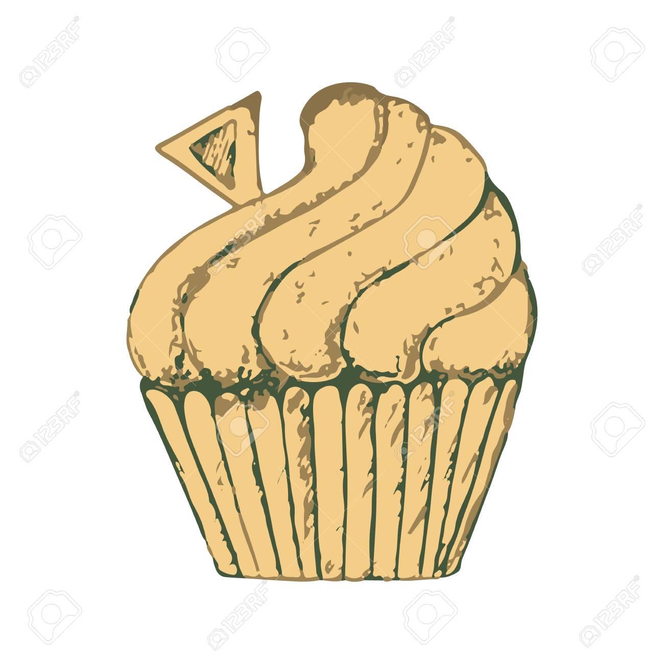 Skizzieren Sie Einen Kostlichen Kuchen Susses Clipart Mit Einer