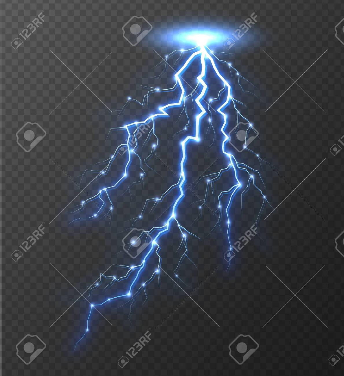 Lightning Bolt Isolated On Transparent Background Realistic Royalty Free Cliparts Vectors And Stock Illustration Image 131901593