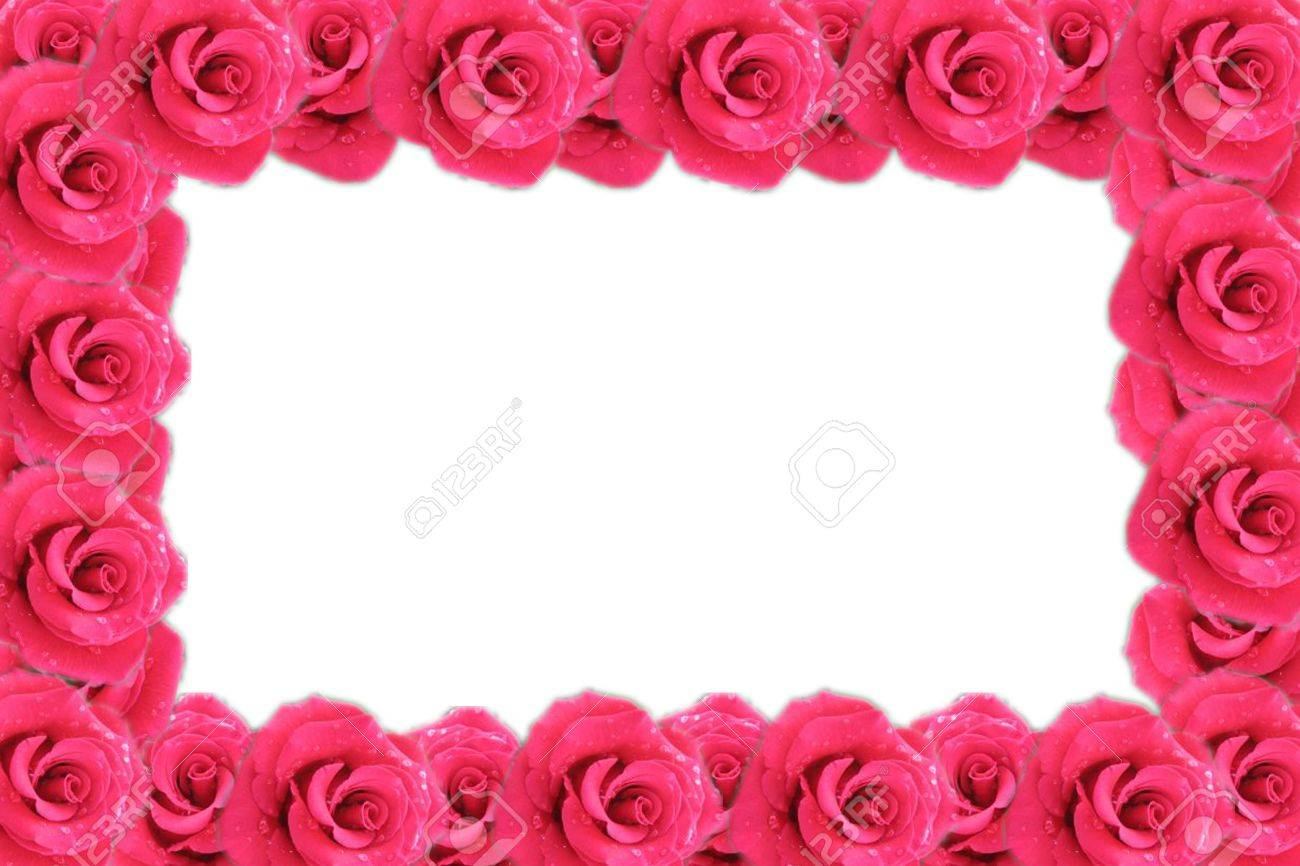 stock photo valentines day frame made from red roses