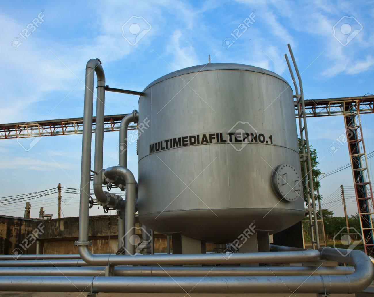 A sewage treatment plant Stock Photo - 13244253