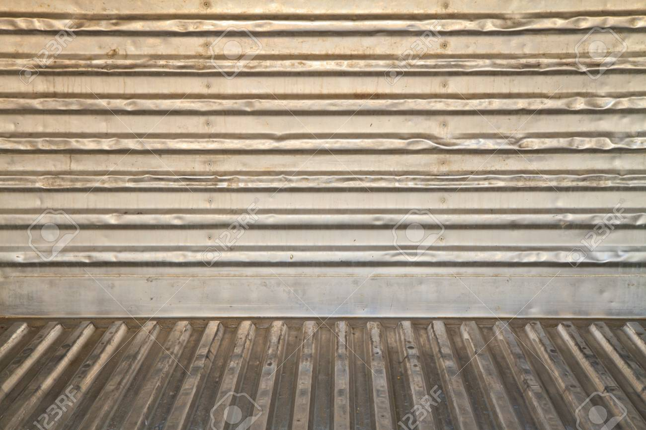 Old zinc wall or cool room panel Stock Photo - 18371785