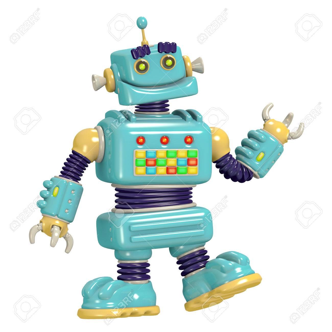 ロボット 3 D イラストを漫画しますサイエンス フィクション