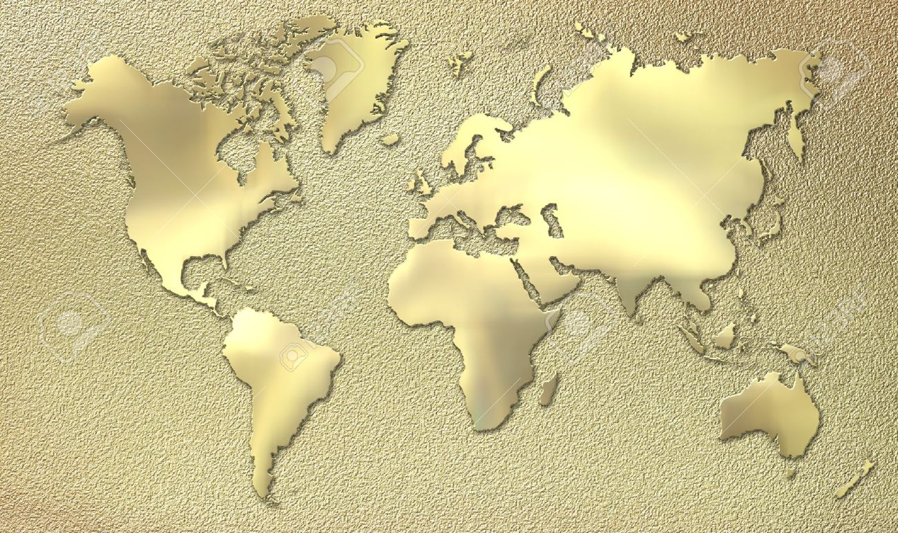 World map made of gold stock photo picture and royalty free image stock photo world map made of gold gumiabroncs Gallery