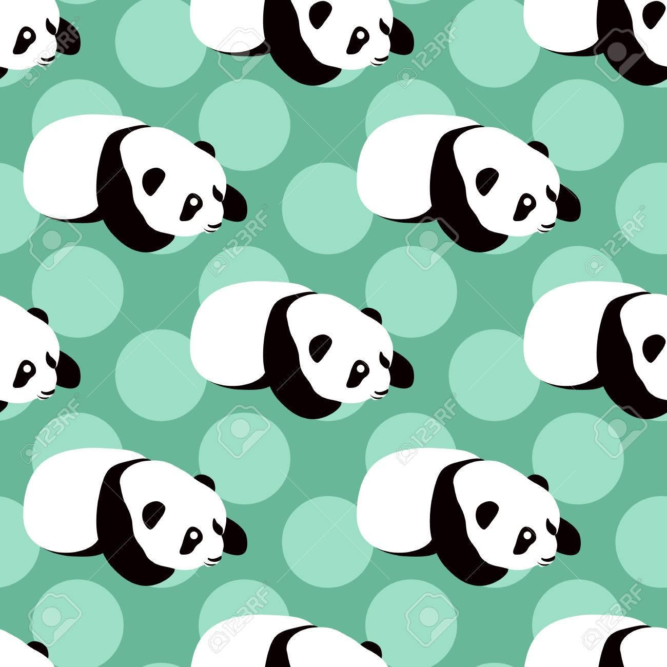 panda bear vector background seamless pattern with cute cartoon rh 123rf com Cute Cartoon Unicorns Cute Cartoon Pandas with Mustaches