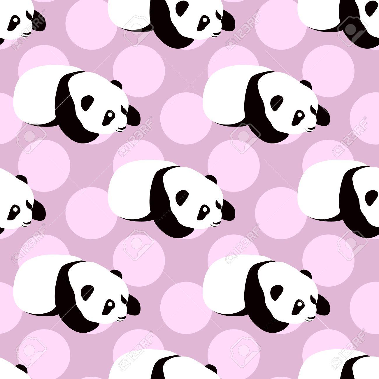 Panda Vector De Oso De Fondo Patrón Transparente Con Dibujos
