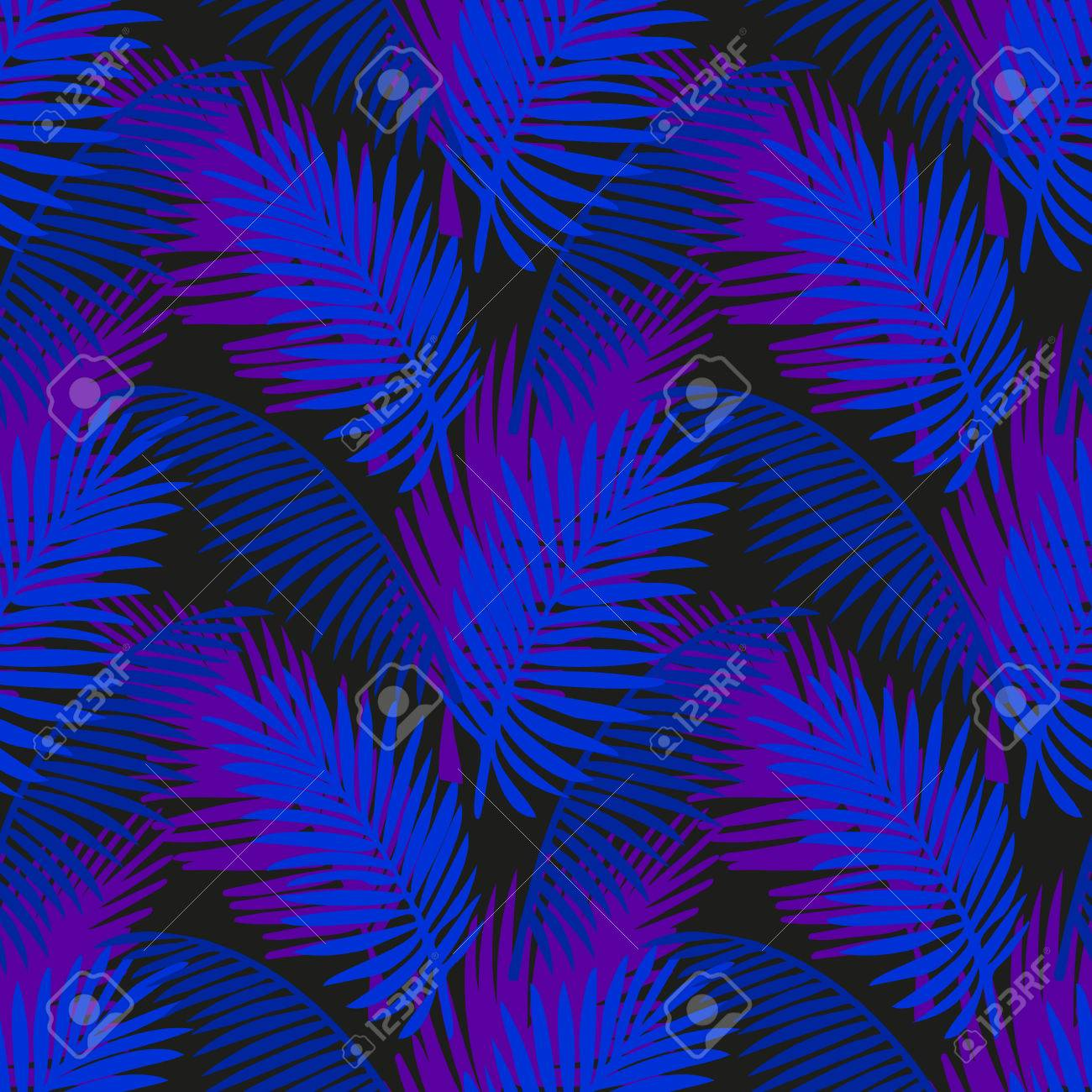 tropic leaves background with neon colors tropical jungle palm