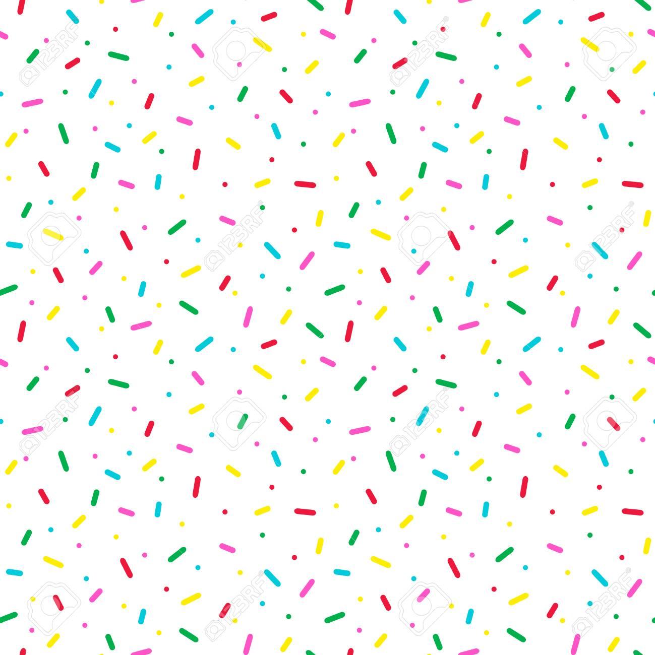 Seamless pattern with colorful sprinkles. Donut glaze background. - 96317280