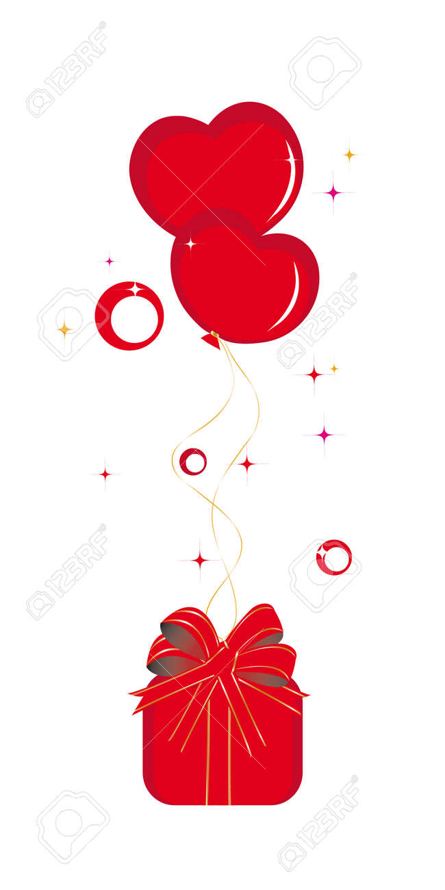 Surprise for saint Valentine day Stock Vector - 4098024